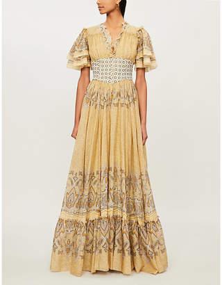 Etro Floral-print flared cotton maxi dress