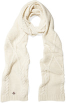 Moncler Cable-knit Scarf - Ivory