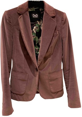 Dolce & Gabbana Pink Velvet Jacket for Women
