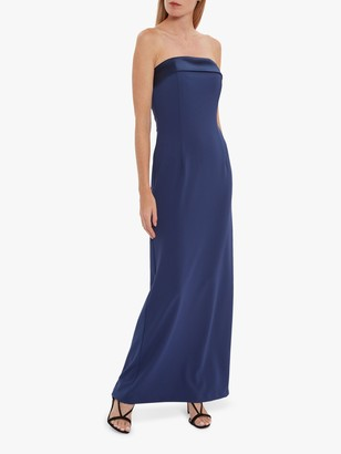 Gina Bacconi Maria Crepe and Satin Maxi Dress