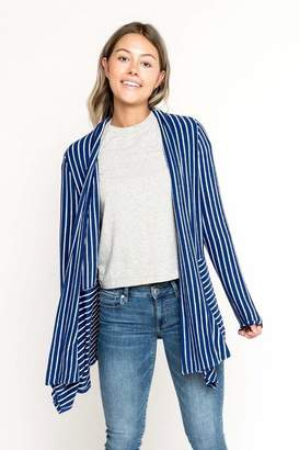 Gibson Cozy Seamed Stripe Cardigan