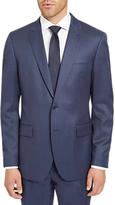Jaeger Plain Twill Regular Fit Suit Jacket, Mid Blue