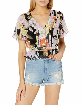 GUESS Women's Maritza Flutter Short Sleeve TOP