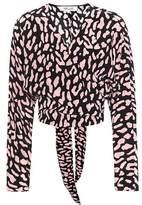 Diane von Furstenberg Printed silk wrap top
