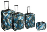 Rockland Galleria 4pc Luggage Set - Multiblue Dot