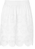 Marc by Marc Jacobs White Palmetto Eyelet Skirt