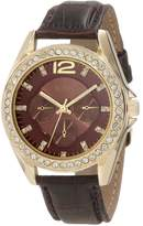 XOXO Women's XO3355 Rhinestones Accent Strap Watch