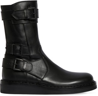 Ann Demeulemeester 30mm Leather Ankle Boots