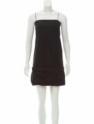 Stella McCartney Pleat-Trimmed A-Line Dress Black