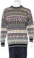 Sibling Lambswool Intarsia Sweater