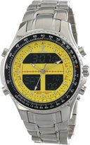 Sartego Men's SPW17 World Timer Quartz Chronograph Watch
