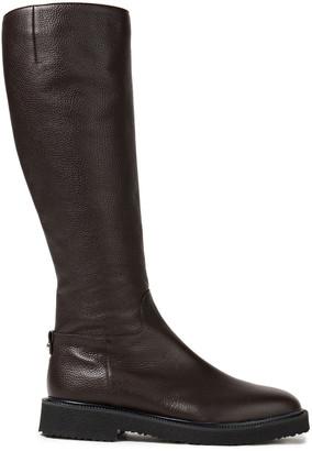 Giuseppe Zanotti Pebbled-leather Knee Boots