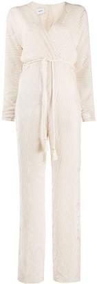 Nanushka Wrap Front Ribbed Jumpsuit
