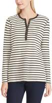 Chaps Women's Striped Henley Top