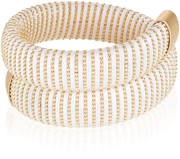 Carolina Bucci White Caro Gold-Plated Bracelet