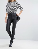 Dr. Denim Solitaire Super High Waist Leather Look Super Skinny Jean