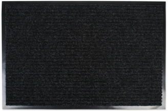 """Design Imports Charcoal Ribbed Walk Off Utility Mat 24""""x36"""""""