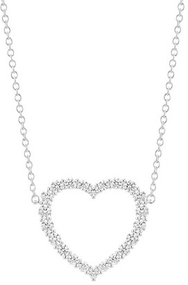 Hearts On Fire 18K White Gold & Diamond Large Heart Pendant Necklace