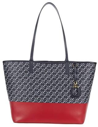 Lauren Ralph Lauren Collins 32 Tote (Lauren Navy Logo/RL 2000) Handbags