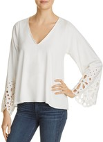 Ramy Brook Remi Eyelet Trim Top
