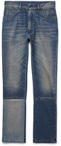 Maison Margiela Slim-Fit Panelled Washed-Denim Jeans