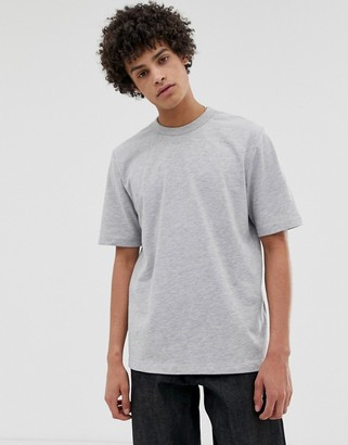ASOS loose fit heavyweight t-shirt in light gray marl