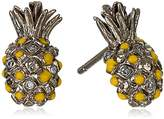 Tai Gold Pineapple Post Stud Earrings