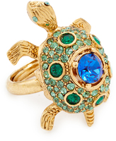 Oscar de la Renta Crystal Turtle Ring