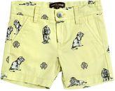 Roberto Cavalli Lion Print Light Cotton Gabardine Shorts