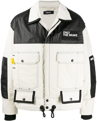 Diesel Two-Tone Oversized Jacket