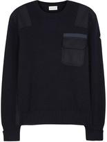 Moncler Navy Ribbed Wool Jumper