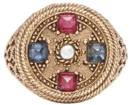 Jade Jagger Star Medallion Sapphire, Pearl & 18kt Gold Ring - Womens - Gold