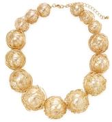 Kenneth Jay Lane Wire Wrapped Pearl Station Bracelet