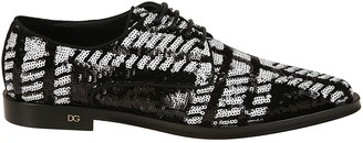 Dolce & Gabbana Sequined Lace-up Shoes