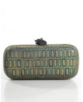 House Of Harlow Green Gold Newly Minted Clutch Handbag $248 90015148