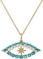 Ileana Makri Women's Shiny Star Eye Necklace-Gold