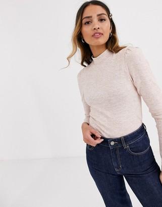 Miss Selfridge long sleeved top in pink