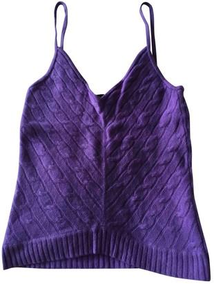 Ralph Lauren Purple Cashmere Tops