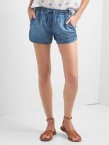 Tencel® denim dolphin shorts