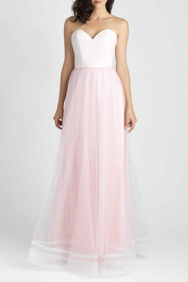 Allure Bridals Lace Tulle Bridesmaid Dress
