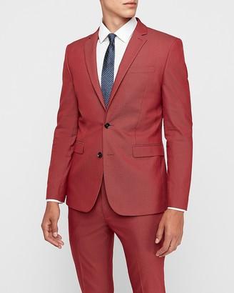 Express Extra Slim Garnet Cotton-Blend Suit Jacket