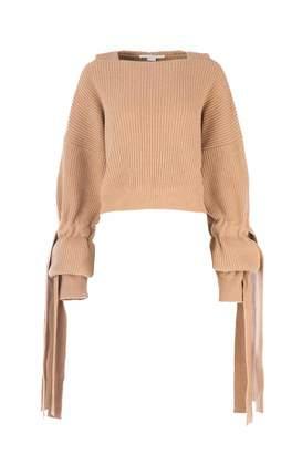 Stella McCartney Ribbed Sleeve Detail Knit