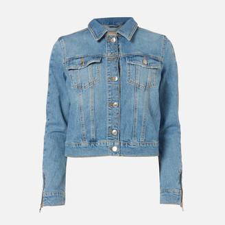 GUESS Women's Adelya Zip Denim Jacket