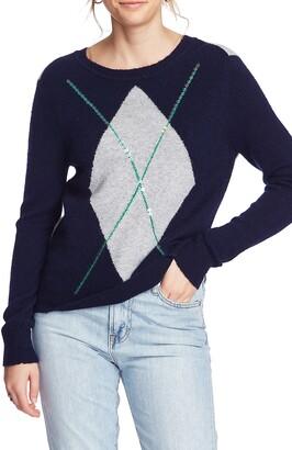 Court & Rowe Cozy Boucle Sequin Argyle Sweater