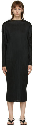 Pleats Please Issey Miyake Black Monthly Colors October Dress