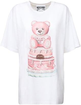Moschino Teddy Cake Printed Cotton Jersey T-shirt