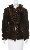 Roberto Cavalli Shearling Mink-Trimmed Jacket
