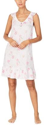 Lauren Ralph Lauren Floral Short Nightgown (Pink Floral) Women's Pajama