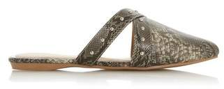 Dorothy Perkins Womens *Head Over Heels By Dune Multi Colour Snake Print Flat Shoes