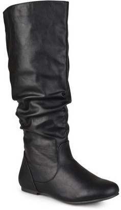 Brinley Co. Women's Wide Calf Slouchy Round Toe Boots